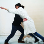 Luca Paglia and Pauline Garnier as 'Jago and Brabanzio'