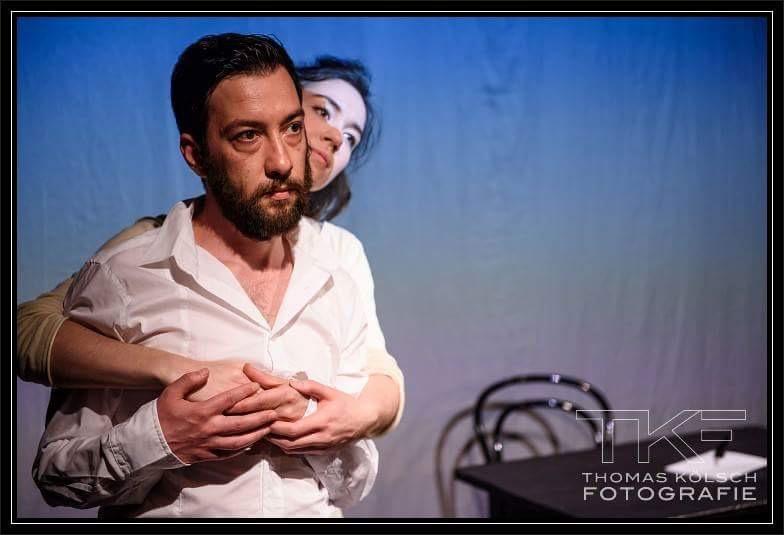 Luca Paglia as 'Adamo' and Leonie Renée Klein as 'Eva' (Immigro Ergo Sum)