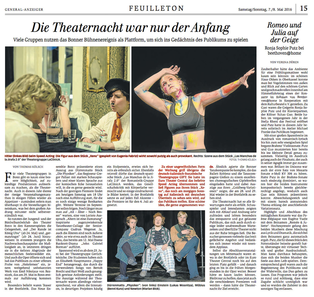 Theaternacht 2016 (Euro Theater Central)